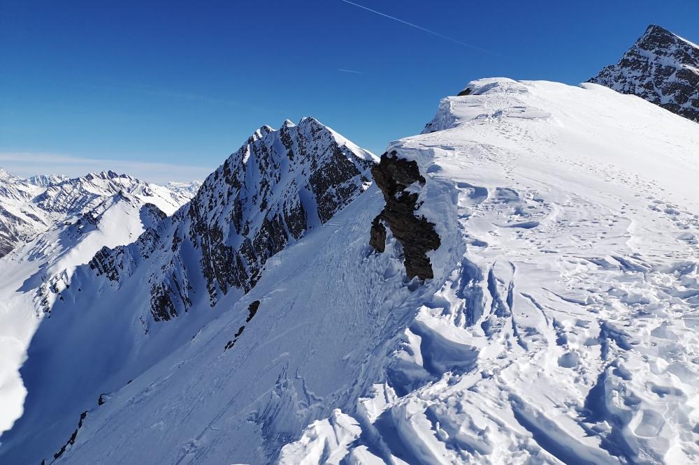 Hors piste au Val Veny le 23-02-2019